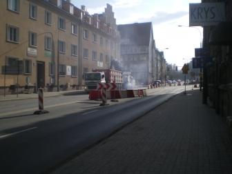 Skrzyżowanie ulic Kętrzyńskiego i Kościuszki (8 marca 2015)