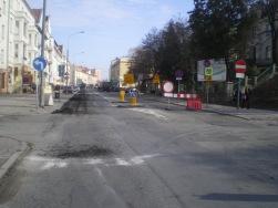Budowa linii tramwajowej w ulicy Kościuszki (8 marca 2015)