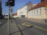 Budowa linii tramwajowej w alei Piłsudskiego (8 marca 2015)