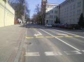 Ulica Kopernika przy skrzyżowaniu z aleją Piłsudskiego (8 marca 2015)