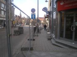Budowa linii tramwajowej w ulicy 11 Listopada (8 marca 2015)