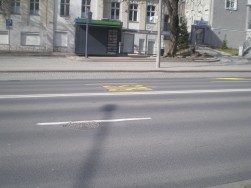 Buspas wytyczony na ulicy 1 Maja na czas budowy linii tramwajowej w Śródmieściu