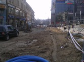 Budowa linii tramwajowej w ulicy 11 Listopada (20 marca 2015)