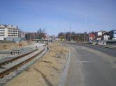 Budowa linii tramwajowej przy ulicy Płoskiego (22 marca 2015)