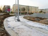 Budowa linii tramwajowej na placu Ofiar Katynia (3 kwietnia 2015)