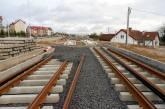 Budowa linii tramwajowej przy ulicy Płoskiego (4 kwietnia 2015)