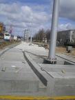 Budowa linii tramwajowej w ulicy Dworcowej (16 kwietnia 2015)