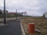 Budowa linii tramwajowej przy ulicy Płoskiego (17 kwietnia 2015)