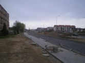 Budowa linii tramwajowej przy ulicy Witosa (28 kwietnia 2015)