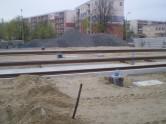 Budowa linii tramwajowej przy ulicy Witosa (28 kwietnia 2015) - przystanek końcowy przy skrzyżowaniu z ulicą Kanta