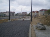 Budowa linii tramwajowej przy ulicy Witosa (10 maja 2015) - miejsce przyszłego przystanku Laszki (dziś Witosa)