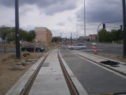 Budowa linii tramwajowej przy ulicy Witosa (10 maja 2015) - skrzyżowanie z ulicami Janowicza i Laszki