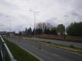 Budowa linii tramwajowej przy ulicy Płoskiego (10 maja 2015)