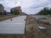 Budowa linii tramwajowej przy alei Sikorskiego (10 maja 2015) - miejsce przyszłego przystanku Andersa