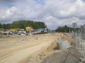 Budowa linii tramwajowej przy alei Sikorskiego (10 maja 2015) - skrzyżowanie z ulicami Jarocką i Minakowskiego