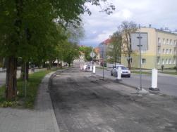 Budowa linii tramwajowej w ulicy Żołnierskiej (10 maja 2015)