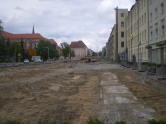 Budowa linii tramwajowej w ulicy Kościuszki (10 maja 2015)