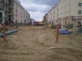 Budowa linii tramwajowej w ulicy Kościuszki (10 maja 2015) - skrzyżowanie z ulicą Mickiewicza