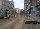 Budowa linii tramwajowej w ulicy 11 Listopada (13 maja 2015)