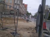 Budowa linii tramwajowej na placu Jana Pawła II (13 maja 2015)