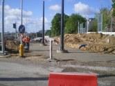 Budowa linii tramwajowej przy ulicy Obiegowej (14 maja 2015)