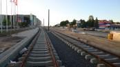 Budowa linii tramwajowej przy alei Sikorskiego (15 czerwca 2015) - przystanek Real