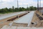 Budowa linii tramwajowej przy ulicy Tuwima (1 czerwca 2015) - przystanek końcowy przy skrzyżowaniu z aleją Warszawską i ulicą Prawocheńskiego
