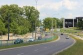 Budowa linii tramwajowej przy ulicy Tuwima (1 czerwca 2015)