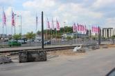 Budowa linii tramwajowej przy alei Sikorskiego (1 czerwca 2015)
