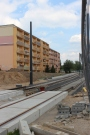 Budowa linii tramwajowej przy ulicy Witosa (1 czerwca 2015)