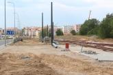 Budowa linii tramwajowej przy ulicy Witosa (1 czerwca 2015) - przystanek końcowy przy skrzyżowaniu z ulicą Kanta