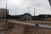 Budowa linii tramwajowej na placu Konstytucji 3 Maja (1 czerwca 2015)