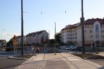Budowa linii tramwajowej przy ulicy Witosa (15 czerwca 2015) - skrzyżowanie z ulicami Janowicza i Laszki