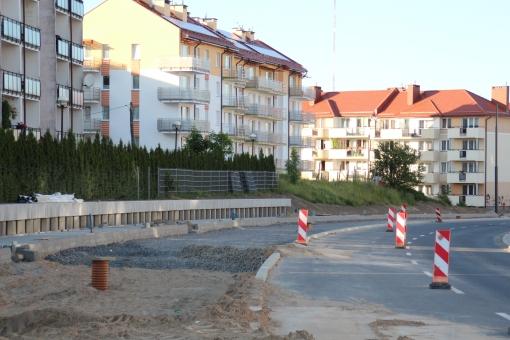 Budowa linii tramwajowej przy ulicy Witosa (15 czerwca 2015)