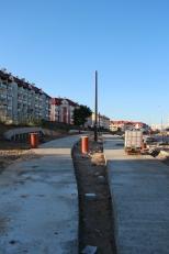 Budowa linii tramwajowej przy ulicy Witosa (15 czerwca 2015) - przystanek Płoskiego