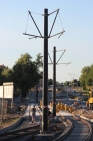 Budowa linii tramwajowej przy ulicy Płoskiego i alei Sikorskiego (15 czerwca 2015)
