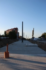Budowa linii tramwajowej przy alei Sikorskiego (15 czerwca 2015) - przystanek Andersa