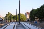 Budowa linii tramwajowej przy alei Sikorskiego (15 czerwca 2015) - przystanek Andersa © OlsztyńskieTramwaje.pl