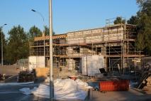 Budowa zajezdni autobusowej przy alei Sikorskiego (15 czerwca 2015)