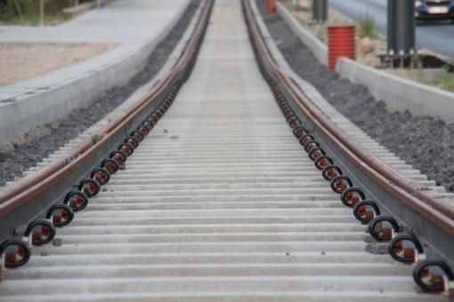 Budowa linii tramwajowej przy ulicy Tuwima (15 czerwca 2015)