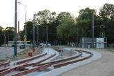 Budowa linii tramwajowej przy ulicy Tuwima (15 czerwca 2015) - przystanek końcowy przy skrzyżowaniu z aleją Warszawską i ulicą Prawocheńskiego