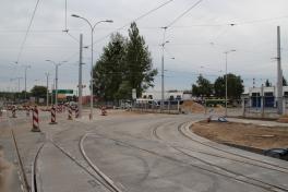 Wjazd do zajezdni tramwajowej przy ulicy Towarowej (18 czerwca 2015)