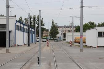 Teren zajezdni tramwajowej przy ulicy Towarowej (18 czerwca 2015)