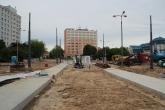 Budowa linii tramwajowej na placu Konstytucji 3 Maja (18 czerwca 2015) - przystanek końcowy Dworzec Główny