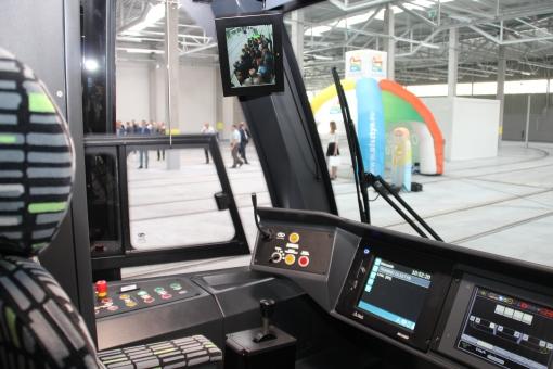 Kabina motorniczego w Solarisie Tramino Olsztyn S111O