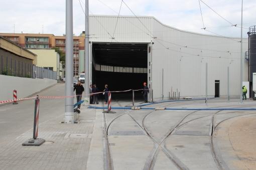 Hala postojowa zajezdni tramwajowej przy ulicy Towarowej (19 czerwca 2015)