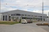 Budynek administracyjny i hale warsztatowe zajezdni tramwajowej przy ulicy Towarowej (19 czerwca 2015)