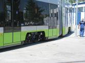 Solaris Tramino Olsztyn #3001 w zajezdni tramwajowej (12 czerwca 2015)
