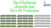 Do Olsztyna dotarło już 10 z 15 Tramino