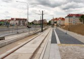 Budowa linii tramwajowej przy ulicy Witosa (12 lipca 2015) - przystanek Witosa